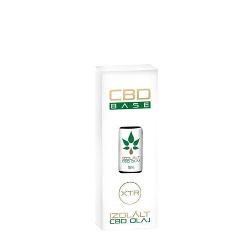 CbdBase izolált CBD olaj – 5% 10 ml 500 mg doboz