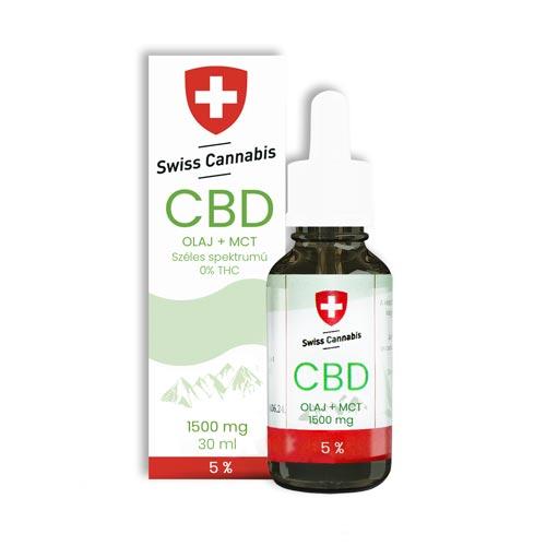 Swiss Cannabis CBD kender kannabisz olaj 1500 mg 30 ml