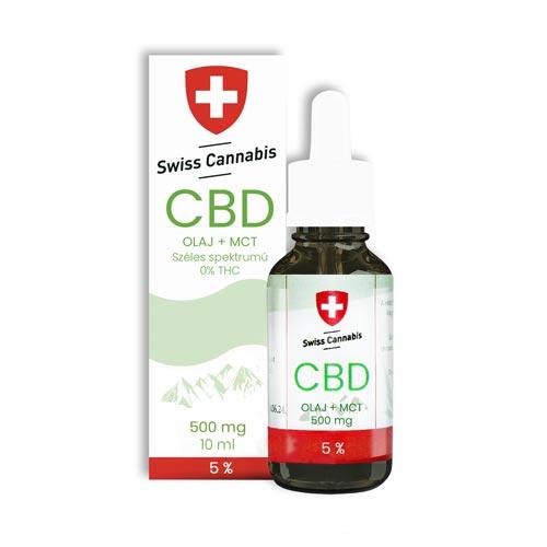 Swiss Cannabis kender kannabisz CBD olaj 500 mg 10 ml